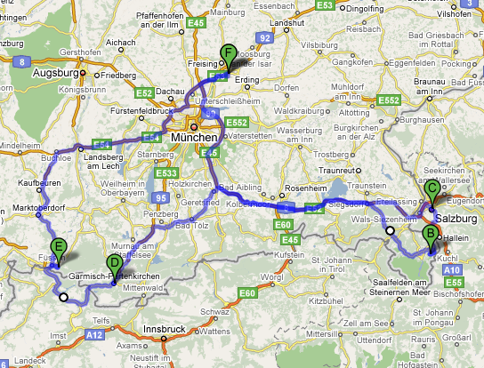 Road Trip the Bavarian Mountain Roadtrip John Walton aviation – Map Austria Germany